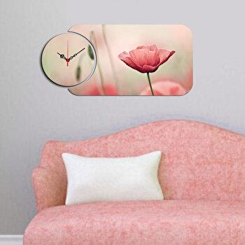 Ceas decorativ de perete (2 Piese) Home Art, 238HMA5115, Multicolor elefant