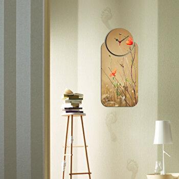 Ceas decorativ de perete (2 Piese) Home Art, 238HMA5164, Multicolor elefant