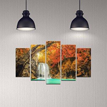Tablou decorativ 5 Piese, Melody, 232MLD2939, Multicolor imagine