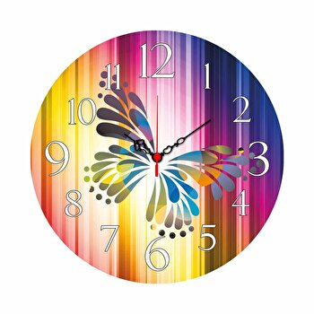 Ceas decorativ de perete Home Art, 238HMA3105, Multicolor