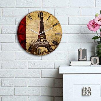 Ceas decorativ de perete Home Art, 238HMA6103, Multicolor imagine