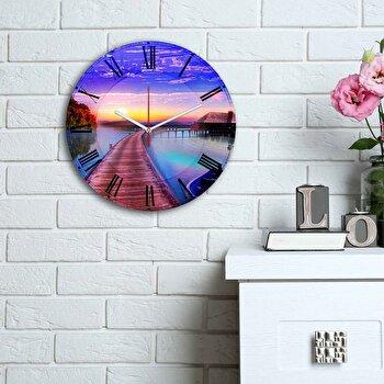 Ceas decorativ de perete Home Art, 238HMA6111, Multicolor