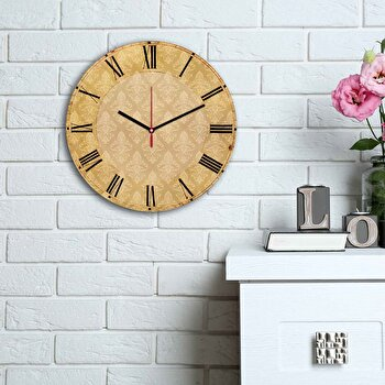 Ceas decorativ de perete Home Art, 238HMA6123, Multicolor