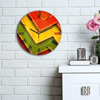 Ceas decorativ de perete Home Art, 238HMA6127, Multicolor imagine