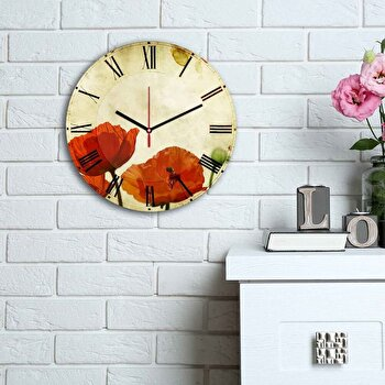 Ceas decorativ de perete Home Art, 238HMA6143, Multicolor elefant
