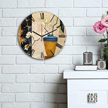Ceas decorativ de perete Home Art, 238HMA6151, Multicolor imagine