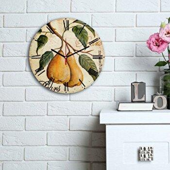 Ceas decorativ de perete Home Art, 238HMA6155, Multicolor elefant