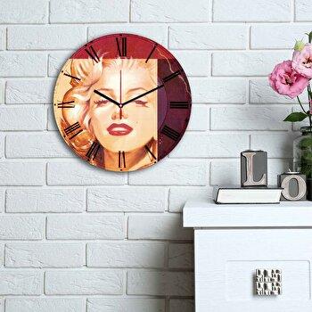 Ceas decorativ de perete Home Art, 238HMA6164, Multicolor elefant