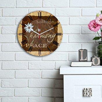 Ceas decorativ de perete Home Art, 238HMA6174, Multicolor elefant