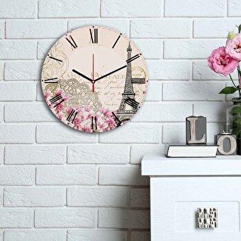 Ceas decorativ de perete Home Art, 238HMA6185, Multicolor imagine