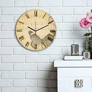 Ceas decorativ de perete Home Art, 238HMA6186, Multicolor