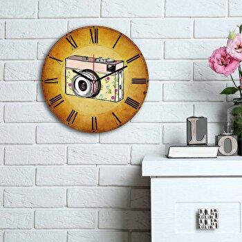 Ceas decorativ de perete Home Art, 238HMA6187, Multicolor