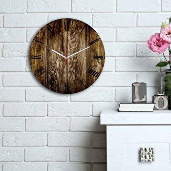 Ceas decorativ de perete Home Art, 238HMA6117, Multicolor imagine