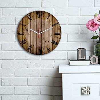 Ceas decorativ de perete Home Art, 238HMA6120, Multicolor