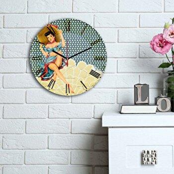 Ceas decorativ de perete Home Art, 238HMA6191, Multicolor