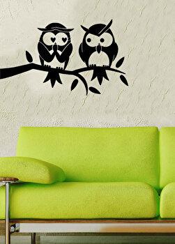 Sticker decorativ pentru perete Pushy, 246PHY1050, Negru elefant
