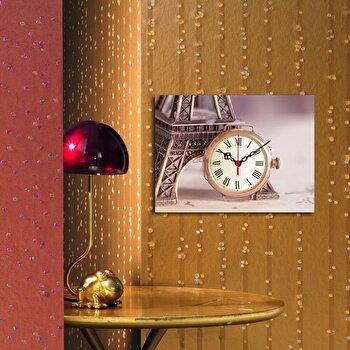 Tablou decorativ cu ceas Clockity, 248CTY1610, Multicolor imagine