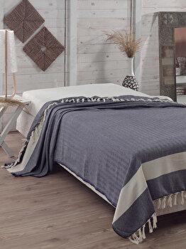 Cuvertura de pat, Eponj Home, 143EPJ9011, 100 procente bumbac, 200x240 cm, Multicolor imagine 2021