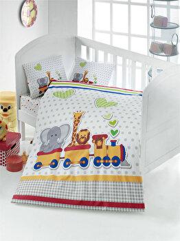 Lenjerie de pat pentru copii, Victoria, 121VCT2005, Multicolor imagine