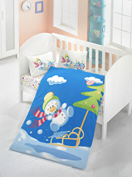 Lenjerie de pat pentru copii, Victoria, 121VCT2017, Multicolor imagine
