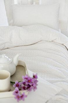 Cuvertura de pat, Eponj Home, 143EPJ5708, Alb imagine