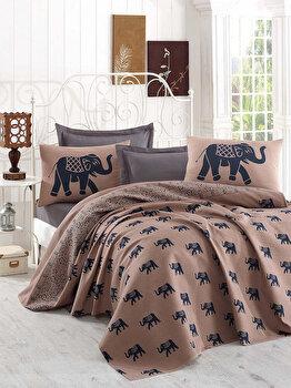 Cuvertura de pat, Eponj Home, 143EPJ6028, 200x235 cm, Multicolor elefant