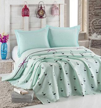 Cuvertura de pat, Eponj Home, 143EPJ5686, 100 procente bumbac, 200x235 cm, Multicolor