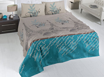 Cuvertura de pat, Victoria, 121VCT5112, Multicolor imagine