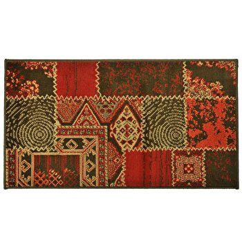 Covor Decorino Patchwork C04-020113, Rosu/Maro, 80x150 cm imagine