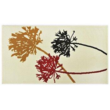 Covor Decorino Floral C04-020117, Crem/Rosu/Maro/Negru, 80x150 cm imagine