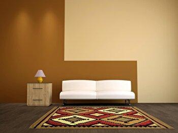 Covor Decorino Oriental & Clasic C23-030201, Maro/Rosu/Bej, 100x150 cm