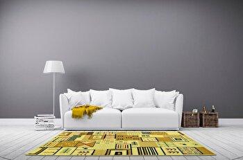 Covor Decorino Modern & Geometric C116-030209, Bej/Maro, 67x120 cm
