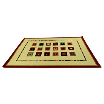 Covor Decorino Modern & Geometric C23-030213, Bej/Multicolor, 100x150 cm