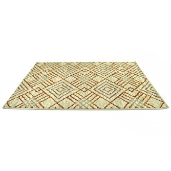 Covor Decorino Modern & Geometric C23-030602, Bej/Maro, 100x150 cm
