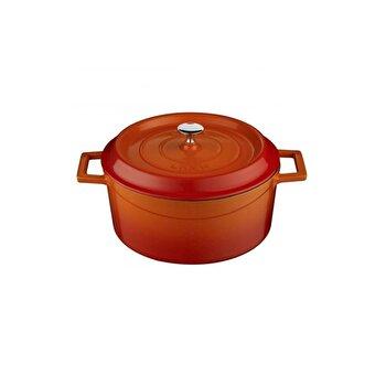 "Cratita fonta ""Trendy"", LAVA, LVYTC14K2O, 14 cm, 0,8 l , portocaliu imagine 2021"