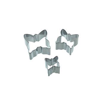 Set 3 forme/cutter pentru decoratiuni din martipan Kitchen Craft, SDICUTBFLY3PC poza