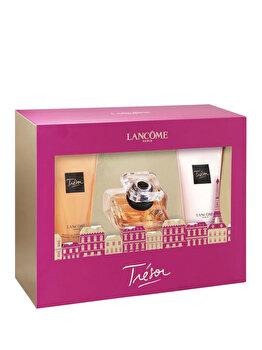 Set cadou Lancome Tresor (Apa de parfum 30 ml + Gel de dus 50 ml + Lotiune de corp 50 ml), pentru femei imagine produs