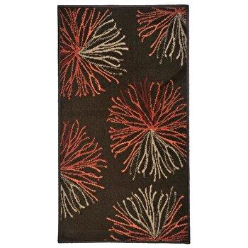 Covor Decorino Floral C05-020155, Maro/Bej/Portocaliu, 60x110 cm