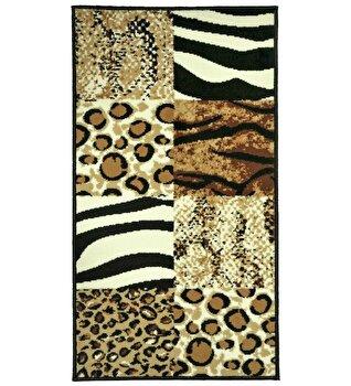 Covor Decorino Animal Print C04-020175, Maro, 80x150 cm elefant