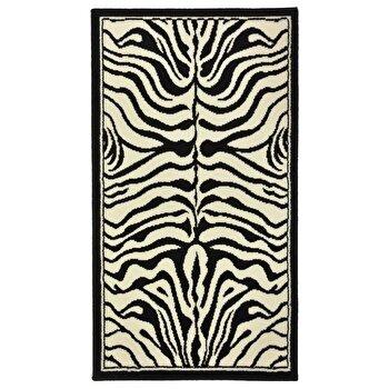 Covor Decorino Animal Print C02-020183, Alb/Negru, 160x230 cm