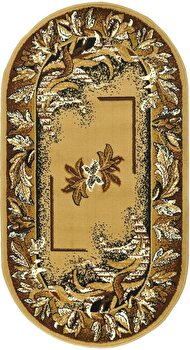Covor Decorino Oriental & Clasic C04-020190, Maro/Bej, 80x150 cm