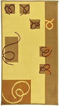 Covor Decorino Modern & Geometric C68-030223, Bej/Maro, 133x190 cm