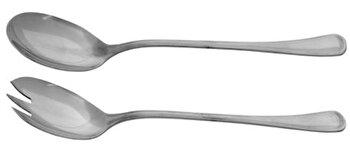 Set lingurita & furculita salata Domotti 2Buc, 89486, Argintiu poza