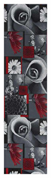 Traversa Decorino Floral CT258-131211, Gri, 50x200 cm imagine