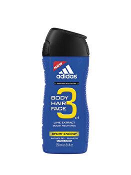 Gel de dus Adidas 3in1 Sport Energy, 250 g, pentru barbati poza