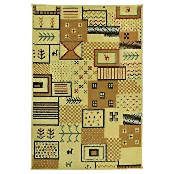 Covor Decorino Modern & Geometric C68-030209, Bej/Maro, 133x190 cm