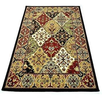 Covor Decorino Oriental & Clasic C23-030505, Rosu/Bej/Maro, 100x150 cm