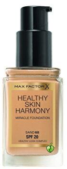 Fond de ten Max Factor Healthy Skin Harmony, Miracle Foundation, 60 Sand, 30 ml imagine produs