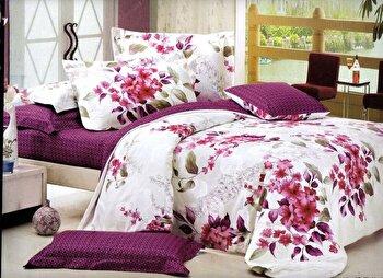 Lenjerie de pat dubla Heinner, din microfibra, magnolia, 220x240 cm
