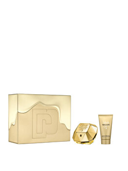 Set cadou Paco Rabanne Lady Million (Apa de parfum 50 ml + Lotiune de corp 75 ml), pentru femei imagine produs